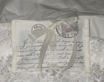Vintage French Postcard Lavender Sachet Filled with Provance Lavender Shower Wedding Favor