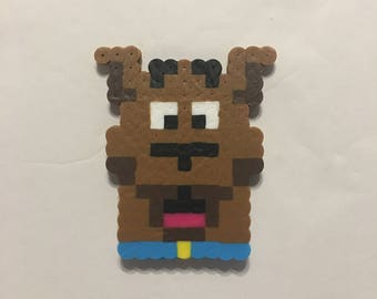 Scooby Doo Face Perler Bead Magnet, Ornament, or Keychain