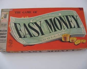 Vintage 1956 Milton Bradley Game - Easy Money