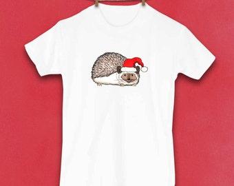 Hedgehog Shirt, Christmas Shirt, Toddler Clothes, Christmas Gift, Christmas clothes, Cute Kids Clothes, Kids Clothes, Holiday Clothes