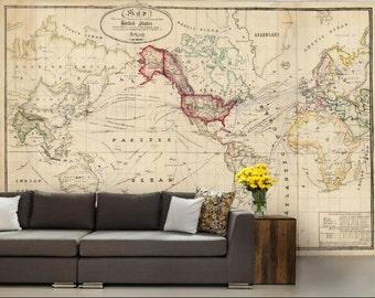 World map wallpaper antique world map wall mural vintage old world map wallpaper old map wall mural united states map wallpaper world gumiabroncs Image collections