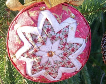 Antique Red and Gold Ornament