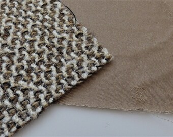 Chanel Fabric Swatch Brown Beige White CC