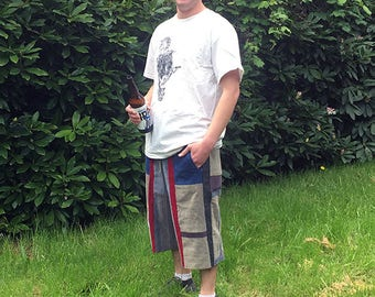 Hippie Patchwork Corduroy Upcycled Shorts ~Festival~ Size S/M