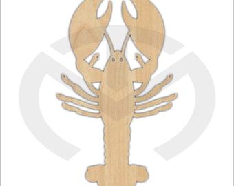 Crawfish - 01572- Unfinished Wood Laser Cutout, Door Hanger, Home Decor, Country, Southern, Crayfish, Crawdad, Craw fish, Mudbug