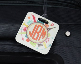 Personalized Luggage Tags, Custom Luggage Tags, Luggage Tags, Honeymoon Luggage Tags, Personalized Gift, Perfect Luggage Tags, Travel Tags