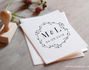 Wedding monogram • Save the Date Design • Wedding logo • Template