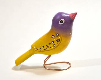 Wooden Bird Wood Carving Wood Ornament Women Gifts Summer Decor Bird Ornament Bird Lover Gift Bird Sculpture, Gifts Under 20, Birthday Gift
