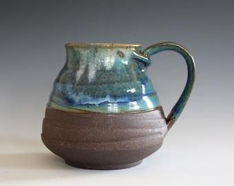 EXTRA LARGE Pottery Mug, 25 oz, unique coffee mug, handmade ceramic cup, handthrown mug, stoneware mug, wheel thrown pottery mug, ceramics