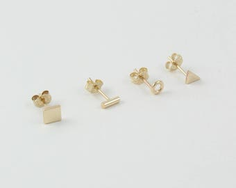 gold studded stud baby button y collection studs e bgscb products earrings