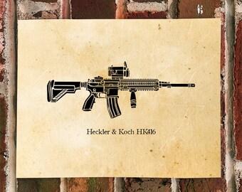 KillerBeeMoto: Limited Print 416 Assault Rifle Print