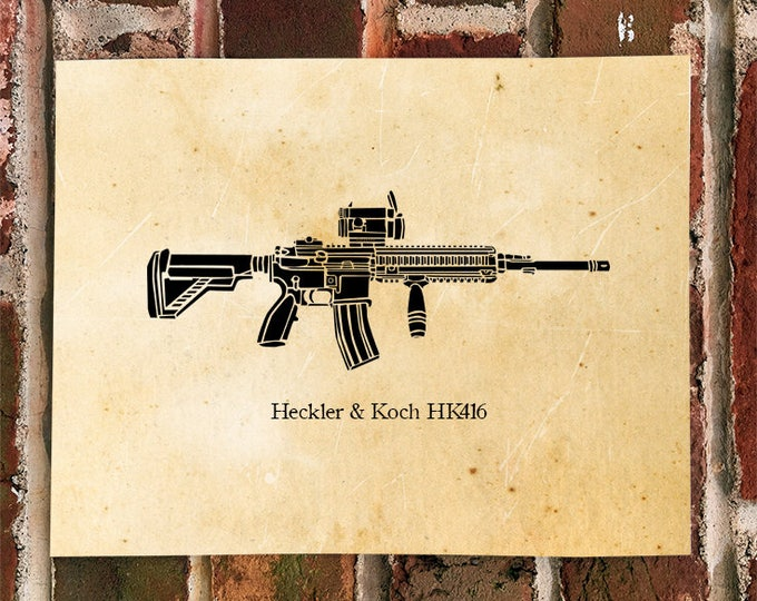 KillerBeeMoto: Limited Print 416 Assault Rifle Print
