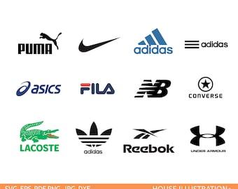 sport brand logo svg - adidas logo svg - nike svg - reebok svg - fila svg - under armour svg - puma svg - converse svg - lacoste logo svg .