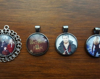 Once upon a time themed cameo necklaces