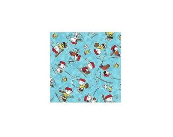 Peanuts All Stars On Aqua~Cotton Fabric By Quilting Treasures