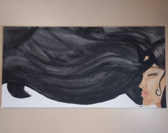 The Wind Carries Our Thoughts Away. Original Acrylic Painting
