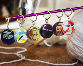 Regular Show Stitch Markers (Set of 6)