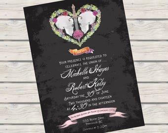 Forever Skulls Gothic Wedding Invitation