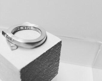925 silver ring custom engraving