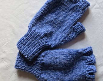 Gloves Fingerless Woollen Hand Knitted