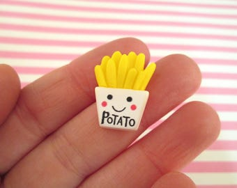 Resin French Fry Cabochons French Fries,  #087b