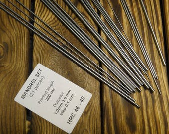 Set of mandrels for creativity 21 mendrels 1.0mm-3.0mm step 0.1mm for the manufacture of chain links, springs L-20, mandrin