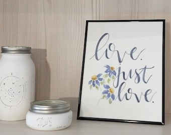 Love. Just Love. ~ Watercolor Quote