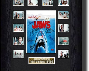 Jaws Cast Signed (1975) , original 35mm filmcell