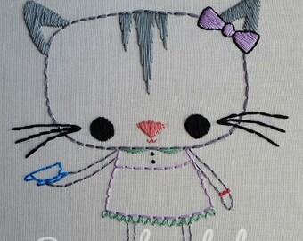 Dapper Animals- Kitty, Panda, Pug Dog Digital Embroidery Patterns