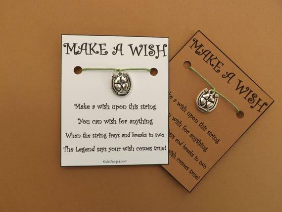 Lucky Horseshoe Clover Shamrock Irish Wish Bracelet