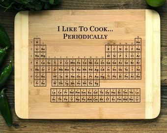 Chop board periodic table etsy personalized cutting board engraved chopping boardanniversary engagement housewarming christmas periodic urtaz Images