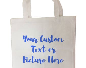 Personalized Custom Made Any Name, Your Text or Logo Here - Tote Bag