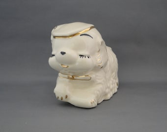 Vintage Puppy Dog Planter Accented in 24K gold