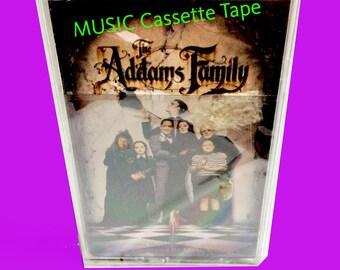 vintage cassette tape, cassette music, movie soundtrack, SEALED, 1990's music, Vintage, New Condition, ADDAMS FAMILY, alternative music