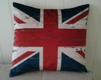 Velvet Union Jack cushion