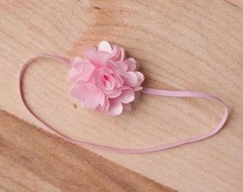 Baby Headbands - Pink Headband, Pink Flower Headband, Newborn Headband, Baby Girl Headband