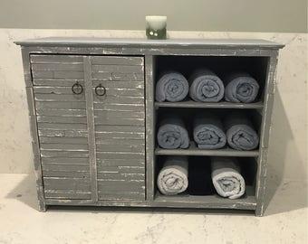 Reclaimed Wood Bathroom Vanity Console, Bath Room Storage Cabinet, Bathroom  Cabinet, Beach Furniture