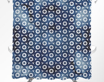 Floral Shower Curtain, Mandala Shower Curtain, Boho Shower Curtain, Floral Bathroom Decor, Bohemian Bathroom, Bohemian Shower Curtain