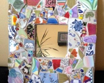 Pique-Assiette Mosaic Mirror   Multi Colored