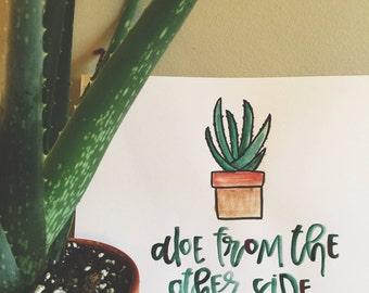 Aloe Watercolor Painting