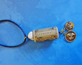 Wine Cork Ornament, Renewal Ornament, Wine Bottle Charm