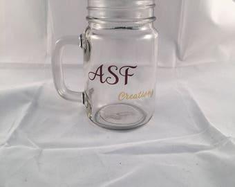 ASF Creationz sublimation glass jar (mason)