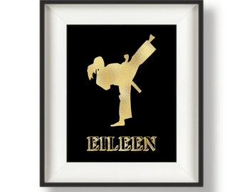 Personalized Karate Gift - Karate Girl - Karate Gifts for Kids - Karate Print - Taekwondo Gifts - MartialArts - Karate Wall Art - 8 x10