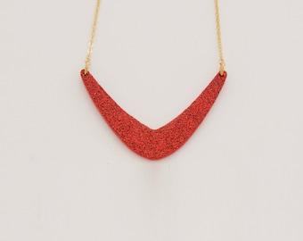 Necklace GLITTER Orange