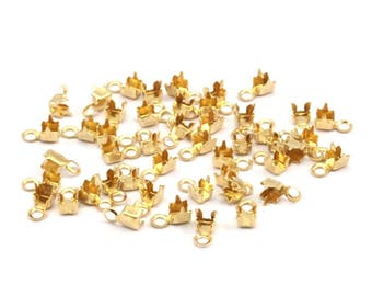 250 Crimp Ends For Rhinestone Chain, Pp13 (ss6) Rhinestone Chain Connectors, Crimp Ends For 1.90mm / 2mm Chain, S420