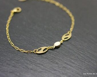 Mini oval bracelet gold