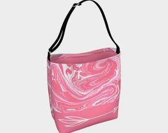 Day tote - Pink Swirl