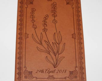 Wedding Guests Journal for the happiest day of your life with Lavender design. Marriage Journal