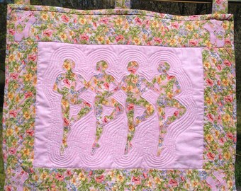 Ballerina Quilted Wall Hanging