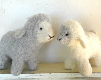 Waldorf Toy Sheep, Lamb - Natural Stuffed Animal - Custom Knit - Eco Friendly Kids Toy